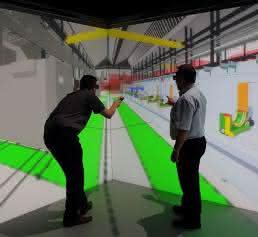 Begehung einer virtuellen Fabrik