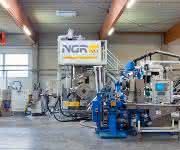 Upcycling-Anlage für die Produktion hochwertiger PET-Sheets aus PET-Produktionsabfällen. (Bild: NGR)