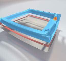 Rahmen und Dachschale