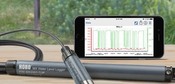 Der Bluetooth Datenlogger MX2001 eignet sich zur Aufzeichnung von Wasserstand, Druck und Temperatur in allen Gewässern.
