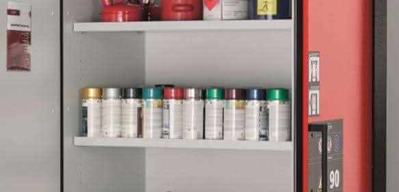 Die bewährte Umluftfilter-Technik ist serienmäßig in allen FlameFlex- bzw. ChemFlex-Schränken der FX-, CX- und SLX-LINE verbaut. (Bild: asecos GmbH)