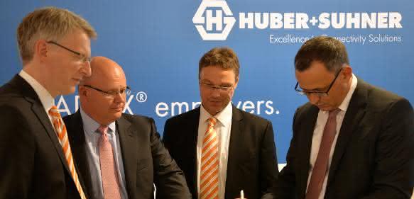 Huber+Suhner und Weidmüller kooperieren