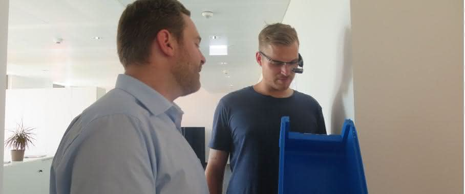 E+P HS Fulda-Augmented Reality Datenbrille im Einsatz