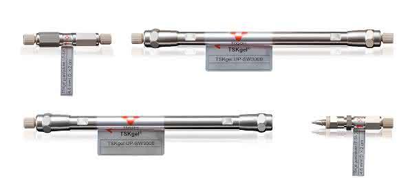 TSKgel UP-SW3000: 2 µm UHPLC Säulen, die besonders für die für die Analyse von Antikörpern geeignet sind. (Bild: Tosoh Bioscience GmbH)