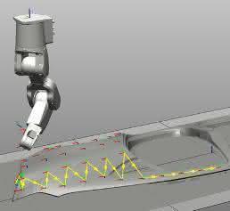 Simulation der Vermessungsbahn