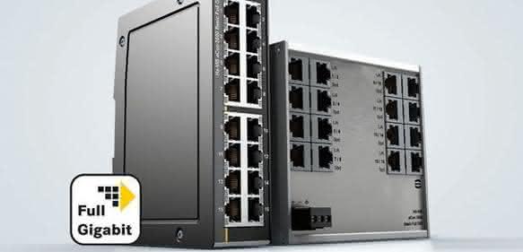 Ethernet Switches: Schaltschrank-Platz gut genutzt