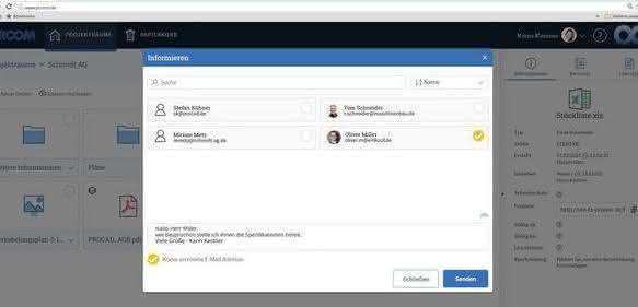 Dokumentenaustausch-Plattform Proom