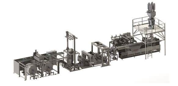 Verpackungstechnik: PET-Folienanlagen flexibler und lebensmitteltauglich gemacht