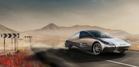 Solarbetriebenes Auto
