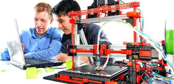 fischertechnik 3D-Drucker Vater Sohn
