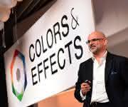 Alexander Haunschild, Senior Vice President des globalen Pigmentgeschäfts, bei Enthüllung des neuen Logos. (Bild: BASF)