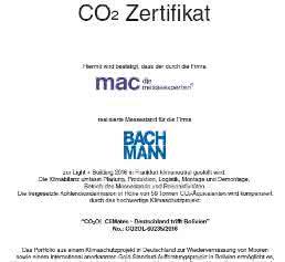 Zertifikat Klimaneutralität