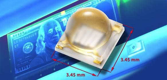 Die neue UV-LED VLMU3510-365-130 von Vishay