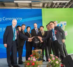 Symbolische Eröffnungszeremonie Mayr Antriebstechnik in China