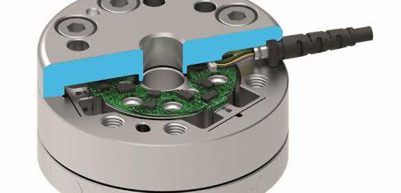 Schunk Kraft-Moment-Sensor FT Mini 58 Schnittbild