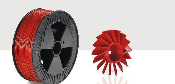 In verschiedenen Farben und Durchmessern werden die ABS- und PLA-Filamente ab Lager geliefert. (Bild: Gehr)