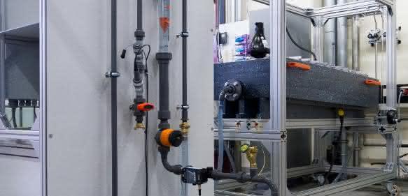 Die Elektrolysezelle ePhos® gewinnt Stickstoff und Phosphor rein elektrochemisch. Es müssen keine Chemikalien eingelagert werden. Das gesamte Verfahren ist sehr einfach zu handhaben. (© Foto Fraunhofer IGB)