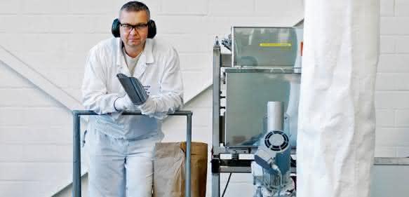 Kunststoffvermahlung für 3D-Druck im Technikum. (Bild: obs, Dressler Group, Nägele)