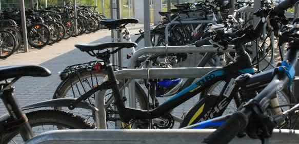 Fahrradparkplätze bei Trumpf