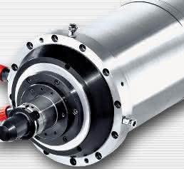 Hochfrequenz-Motorspindel als Sonderantrieb mit Zusatzausstattung