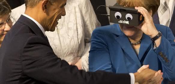 Obama und Merkel auf der HMI
