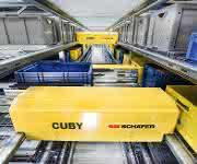 Einebenen-Shuttle System Cuby von SSI Schäfer