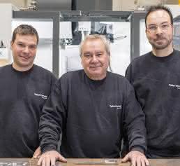 Taller Compla: Miguel Plantada mit den Söhnen Xavier (links) und Jordi.