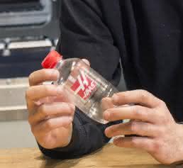Kunststoff-Wasserflasche mit Haas-Logo