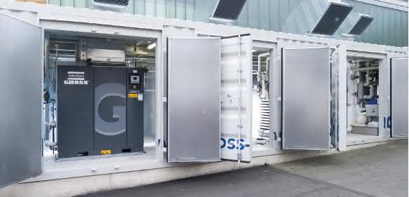 mobile Containerlösung zur optimierten Medienversorgung mit Druckluft und Wärme