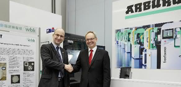 Eröffnung Arburg Innovation Center mit Heinz Gaub und Jürgen Fleischer