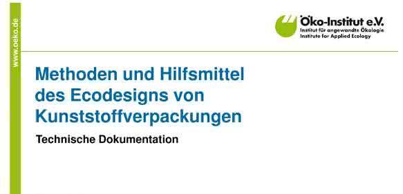 Eco-Design von Kunststoffverpackungen