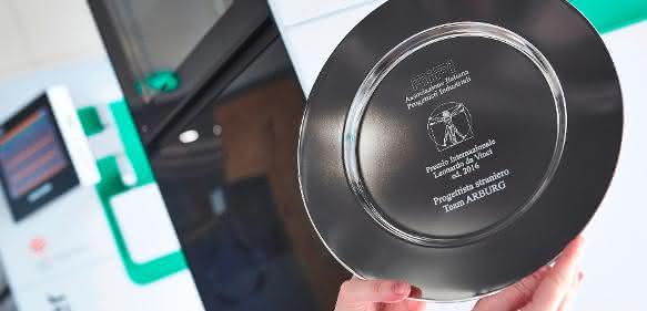 """Der italienische Verband der Industriedesigner (AIPI) hat den Freeformer mit dem """"Leonardo da Vinci"""" Award ausgezeichnet. (Bild: Arburg)"""
