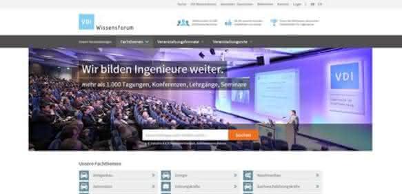 Internetauftritt des VDI Wissensforum