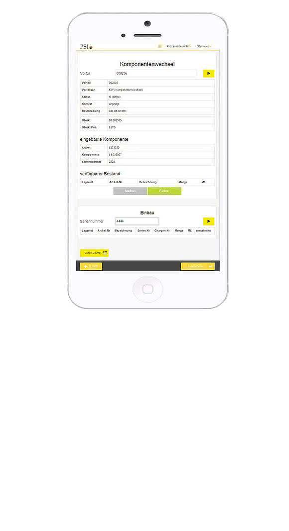 Service-App von PSI