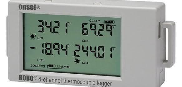 Speichert bis zu 1,9 Mio. Messwerte: Mehrkanal-Datenlogger für Thermoelemente