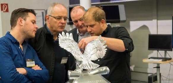 Michael Otto mit Adler