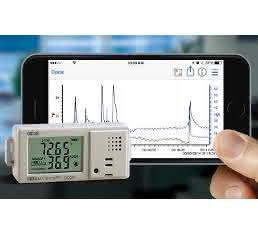Datenlogger für Temperatur und relative Feuchte: Sendet Daten aufs Smartphone oder Tablet
