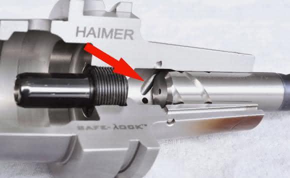 Safe-Lock-Aufnahme im Querschnitt