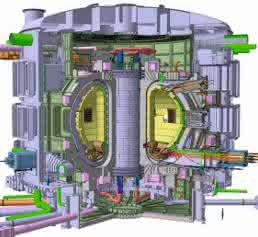 schematische Darstellung des Fusionsreaktors