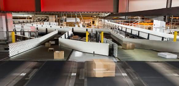 Sortieranlage Paketzentrum Frauenfeld der Schweizerischen Post Vanderlande