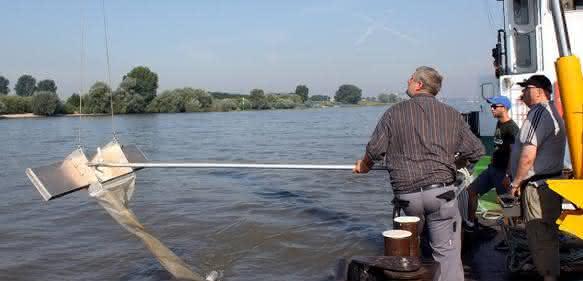 Probenentnahme im Niederrhein