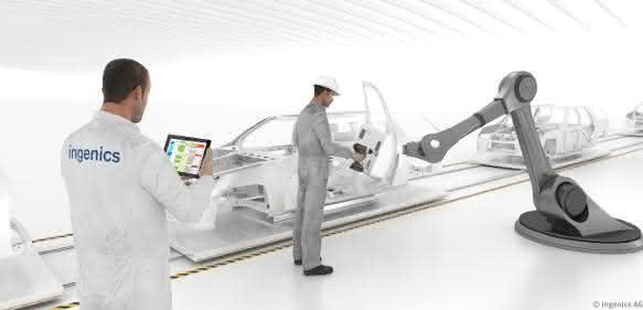 Mensch-Roboter-Kollaboration in der Audi-Montage