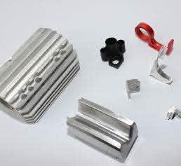 Teile aus Aluminium und Kunststoff von Rihs