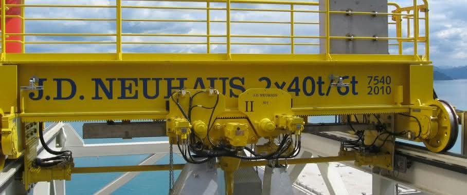 Hydraulische JDN-Krananlage im Offshore-Einsatz