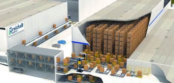 Künftigen Distributionszentrums bei Reichelt Elektronik