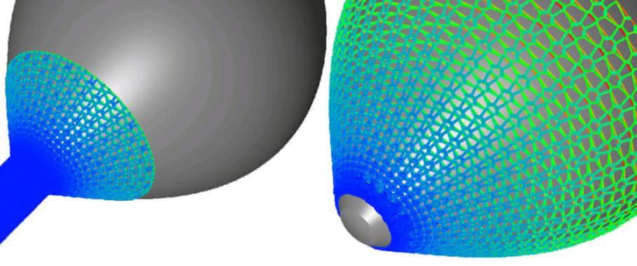 Simulation technischer Textilien