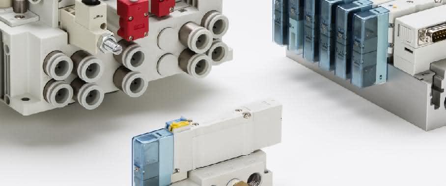 Elektromagnetventile der Serie New SY3000/5000 von SMC Pneumatik