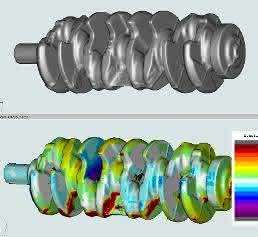 Videometriv Software vergleicht das hinterlegte CAD/CAM-Modell mit dem 3D-Modell