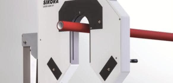 High-end Durchmessermessung von Rohren und Schläuchen zur Inline-Vermessung mehrere geometrischer Parameter. (Bild: Sikora)
