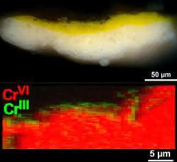 Mikroskopaufnahme einer Farbprobe